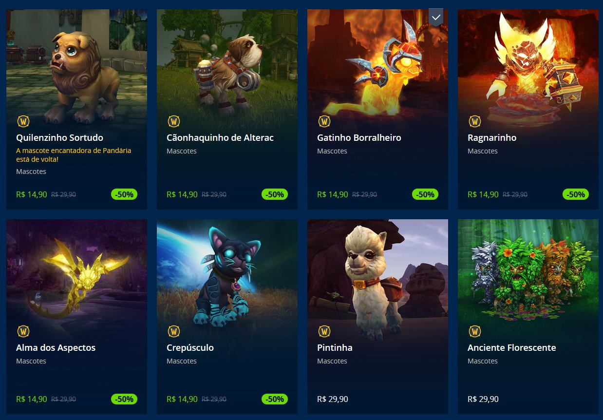 Mascotes em oferta World of Warcraft