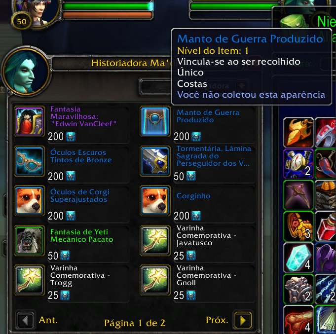 WoW Battle for Azeroth - Manto do evento de aniversário 02